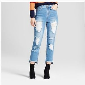 Mossimo Denim | Distressed High Rise Mom Jeans